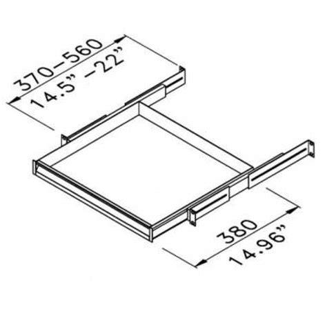 laptop rack drawer r1291 1u k