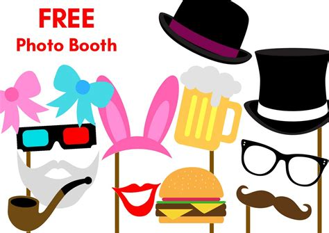 Printable Photo Booth Party Props | free printable party photobooth props birthday party