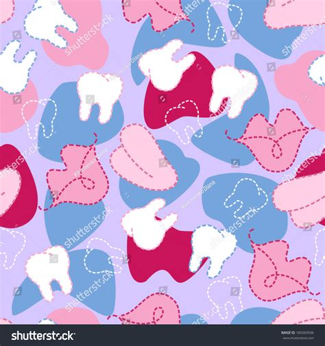 white pattern tongue vector dental seamless pattern cartoon lips white teeth