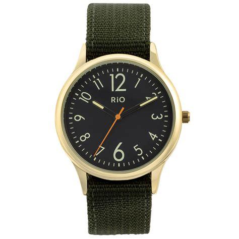 b m mens green canvas cheap mens watches