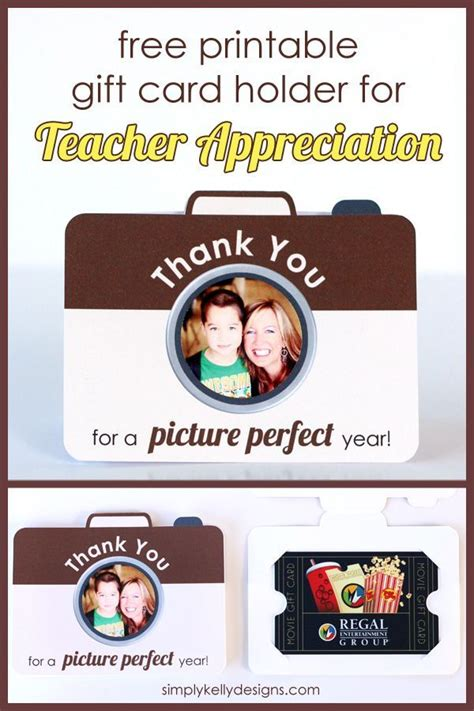 printable gift certificate holder thank you for a picture perfect year printable teacher