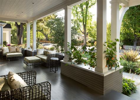Mediterranean Home Interiors splashy porch columns look san francisco traditional porch