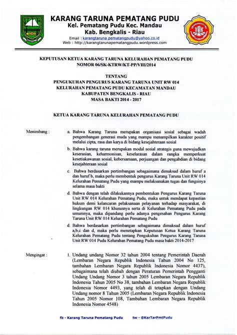 sk bank bengkalis 171 karang taruna pematang pudu