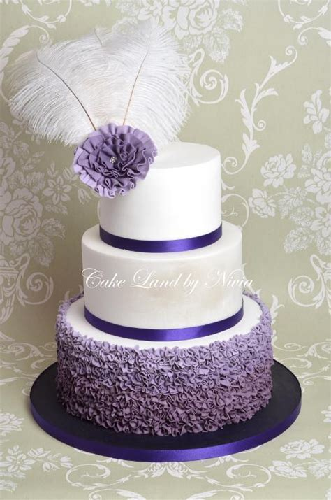 you to see purple wedding cake by cakeland by niv