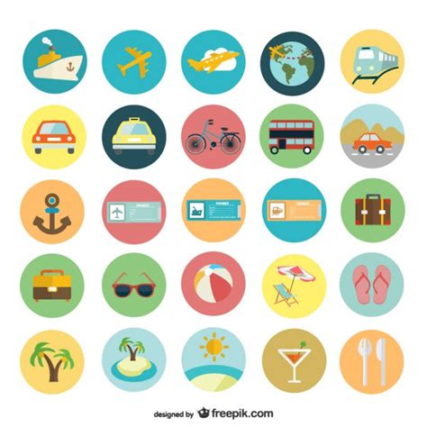 flat design icon vector summer holiday flat icons vector free download