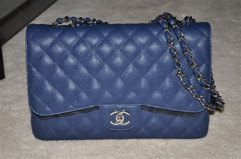 Chanel O Navy Blue Caviar Shw Series 21 Fullset Large Size post your blue chanel items here page 9 purseforum