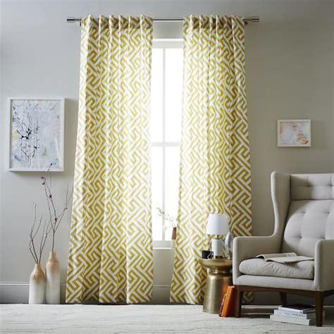 west elm ikat curtains cotton canvas ikat key curtain horseradish west elm