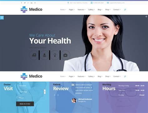 templates for medical website 70 best health and medical website templates free