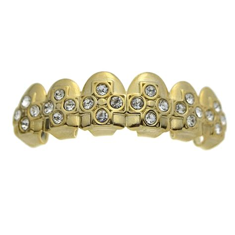 Golden Grill Made In Korea gold crosses top grillz grillz gt all