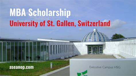 Part Time Mba Scholarships Usa by Science Scholarship Competition Switzerland Mba