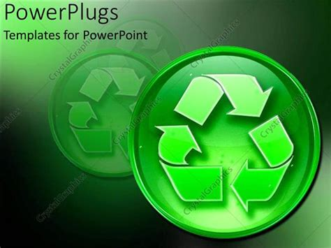 reduce reuse recycle environment powerpoint templates powerpoint template recycling sign environmentally