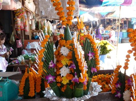 market stall with religious decorations