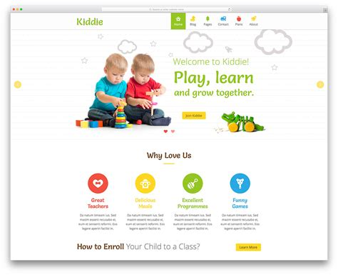 free website templates for kindergarten top 15 colorful kindergarten wordpress themes 2018 colorlib
