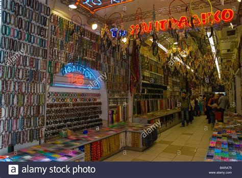 bead store oklahoma city bead shop in plaka district of athens greece europe stock