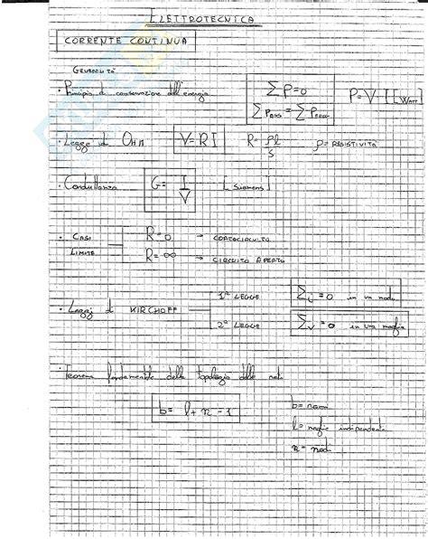 dispensa elettrotecnica formulario appunti di elettrotecnica