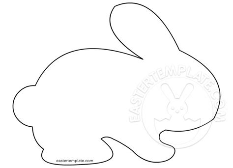 bunny outline coloring page easter bunny template archivi easter template