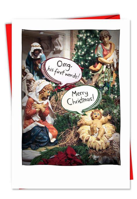 jesus  words naughty sacrilegious christmas card