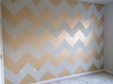 metallic gold chevron wall using benjamin studio finishes metallic glaze paint aubree s