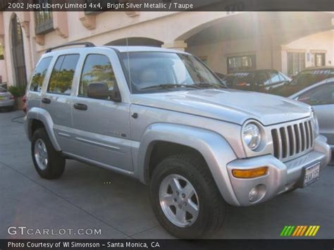 jeep liberty silver inside bright silver metallic 2002 jeep liberty limited 4x4