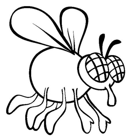 flies free coloring pages