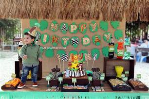 Jungle Themed First Birthday Decorations - jungle themed first birthday party time2partay com