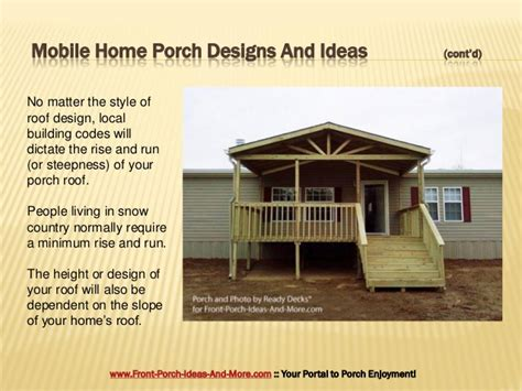 Simple House Plans With Porches porch design ideas for mobile homes