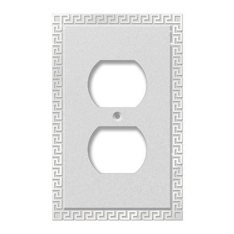 amerelle grayson 1 duplex wall plate copper and the home amerelle filigree 1 duplex wall plate antique copper