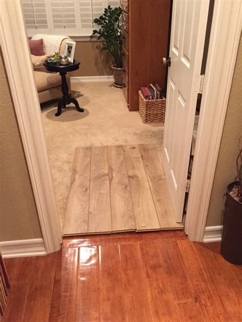 is using 2 different wood floors ok from hallway to bedroom