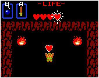 legend of zelda nes map heart containers heart container tv tropes