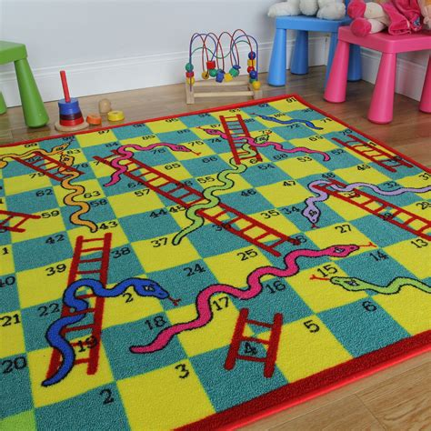 Kid Rug Snakes Ladders Play Mats Kukoon
