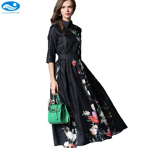 Maxi Bohemian Dress Alia Black floral dress 2017 vintage black print dress bohemian maxi dress half sleeve slim a