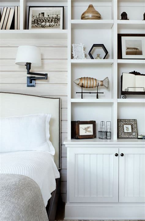 shelves in bedroom coastal style htons chic