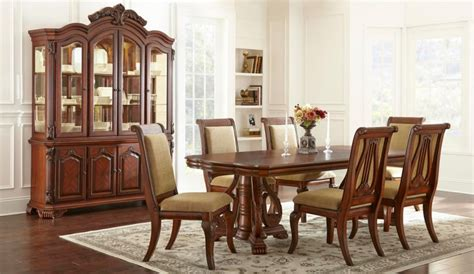 dining room 7pc dining set formal dining table chairs formal charlene dining room dining table 7pc set cherry
