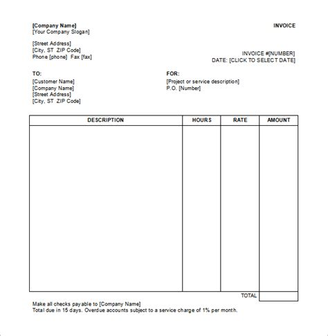 service receipt template 18 free sample example
