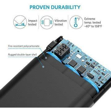 Anker Powercore 10000 Charge 30 Black A1264011 anker powercore 10000 with charge 3 0 10000mah black