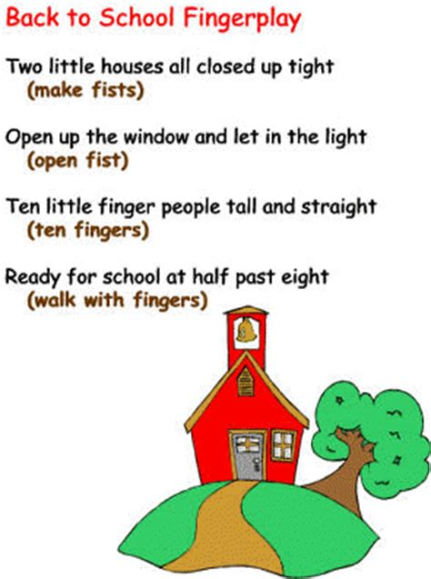 preschool songs fingerplays back to school theme finger play and movement
