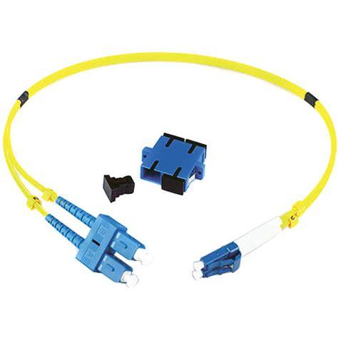 Adapter Fiber Optic Sc lynx technik ag duplex lc connector to duplex sc lc sc dup 0 5m