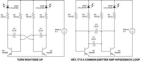 capacitor flasher circuit led how does this transistor circuit work electrical engineering stack exchange