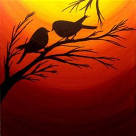 acrylic painting birds in sky 1000 ideas about silhouette painting on