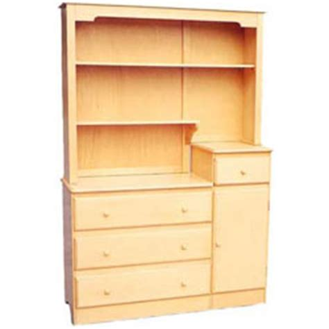 three drawer combo chest w hutch by line