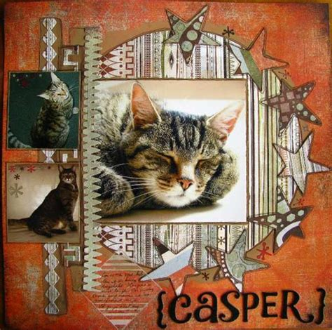 scrapbook layout cat papercraft scrapbook layout crafting by holiday