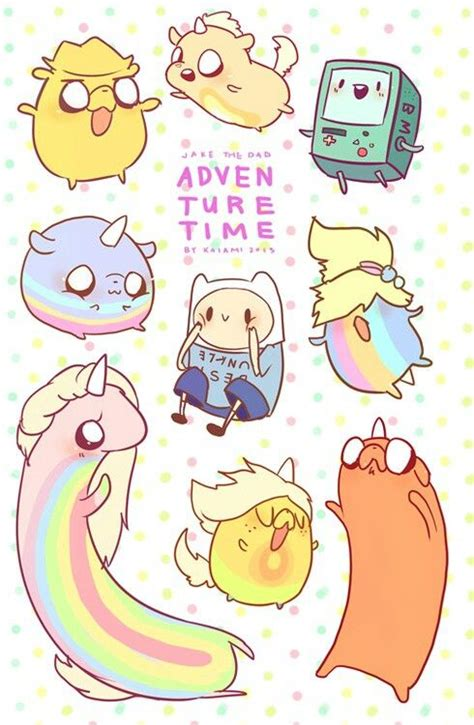 Kaos Adventure Time 3 jake s puppies bunny marceline and princess bubblegum
