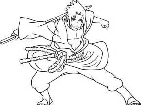 Sasuke Coloring Pages free coloring uchiha sasuke