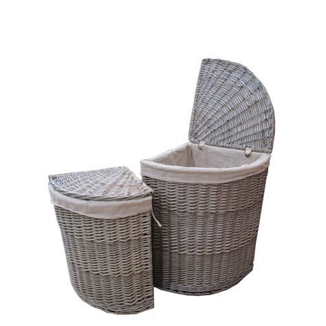 laundry basket antique wash wicker corner laundry basket