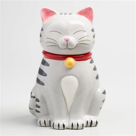 cat ceramic cookie jar world market