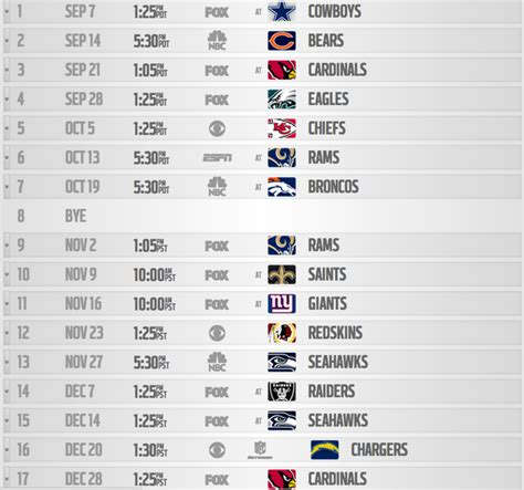 2015 seahawks printable schedule google search printable seahawks schedule 2015 2016