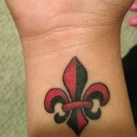 fleur de lis black ink tattooimages biz inwrought black fleur de lis tattooimages biz