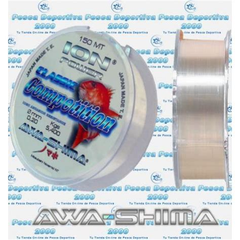Senar Awashima Ion Power Classic Competition 0 30 0 50 awa shima ion power classic competition bobinas individuales de 500 metros color blanco hilo d
