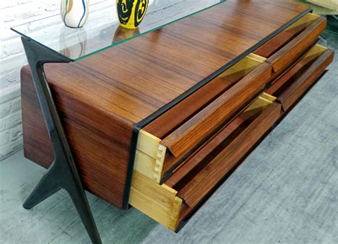Deco Buffet 1277 by Mid Century Modern Italian Design Rosewood Sideboard