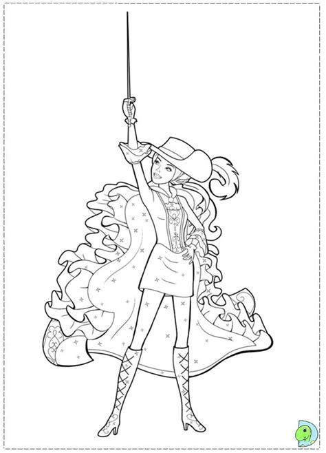 barbie musketeers coloring pages barbie 3 musketeers coloring pages coloring home